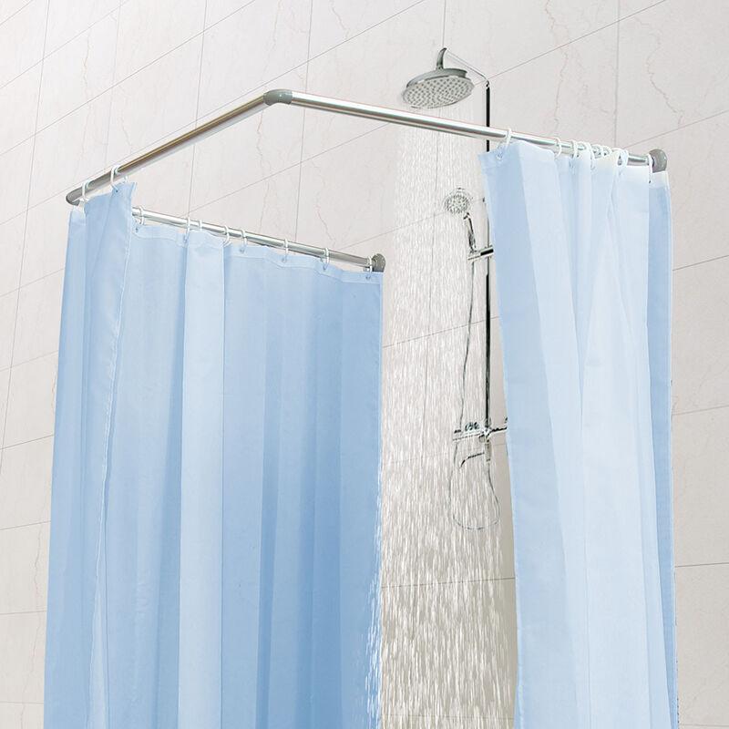 铝合金组合型U型浴帘杆KC390 抛光色 90*90*90cm