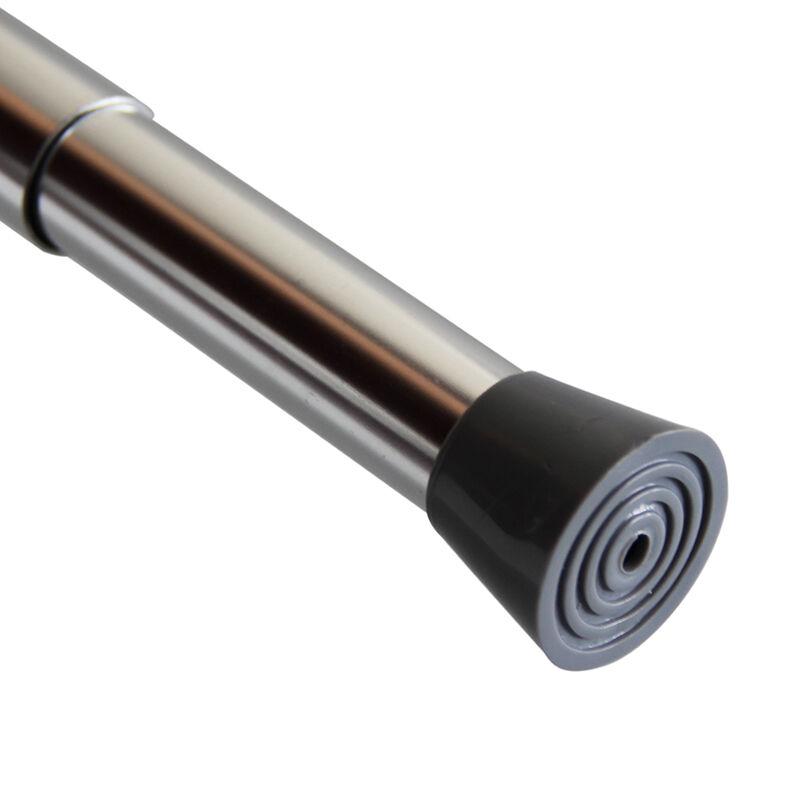 伸缩型铝合金免打孔浴帘杆直杆涨杆 多色可选 抛光/原色 JC208长130-240cm